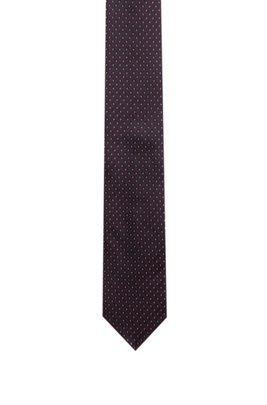 Patterned tie in silk jacquard, Patterned