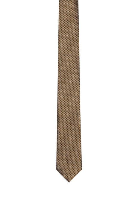 Cravate en soie à micromotif contrastant, Fantaisie