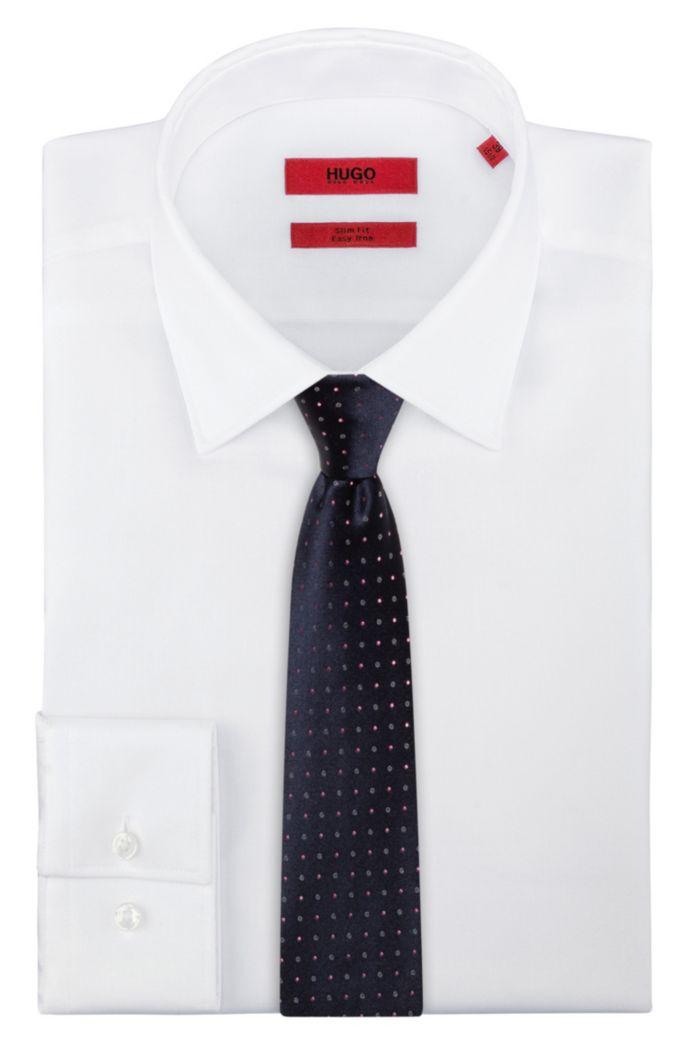 Cravate en pure soie à motif jacquard