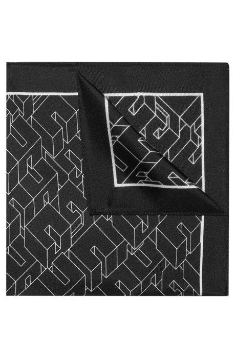 Pañuelo de bolsillo de seda con estampado de efecto 3D, Fantasía