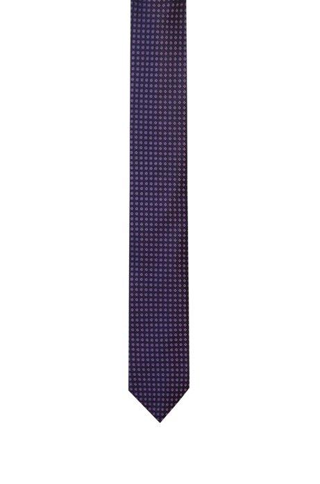 Krawatte aus Seiden-Jacquard mit filigranem Kontrastmuster, Gemustert