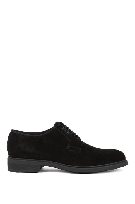 Calf-suede Derby shoes with Outlast® lining, Black