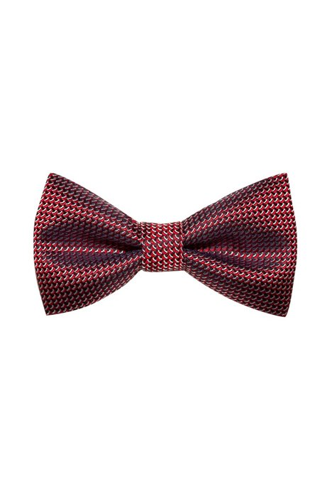 Micro-patterned bow tie in silk jacquard, Patterned