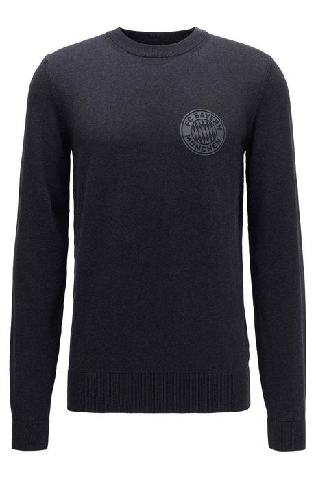 Jersey de algodón con insignia del FC Bayern Múnich, Gris