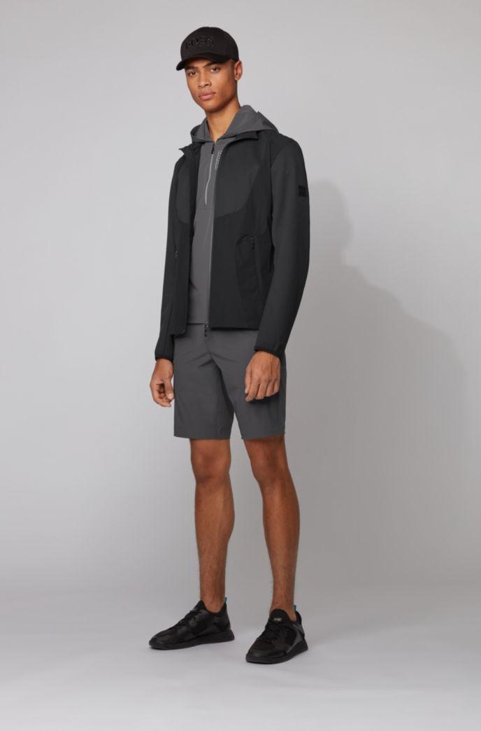 Verstaubare Jacke aus fein strukturiertem Stretch-Gewebe mit wasserabweisendem Finish