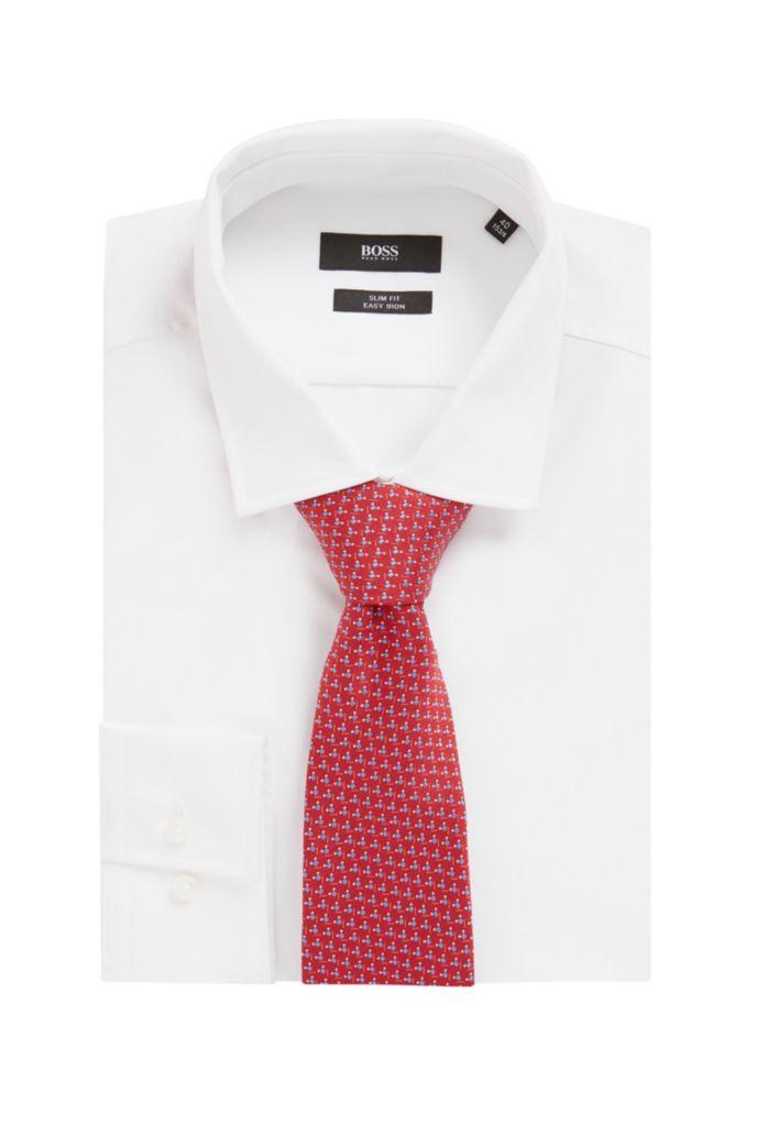 Cravate en jacquard de soie italienne à motif intégral