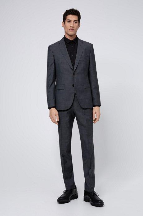 Regular-fit pak van een scheerwolmix, Donkergrijs