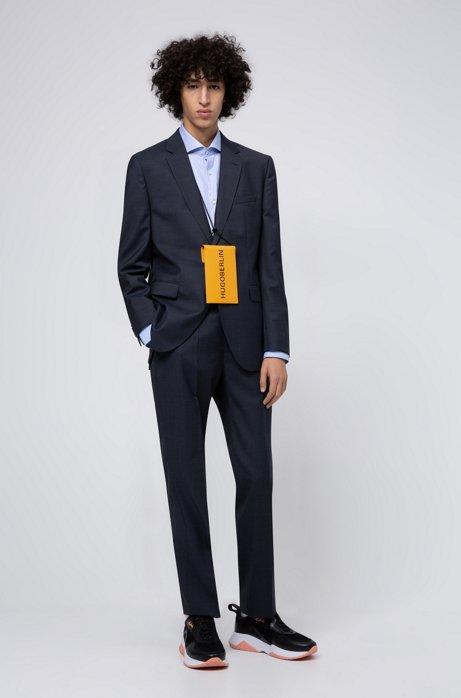 Regular-Fit Anzug aus Schurwoll-Mix, Dunkelblau