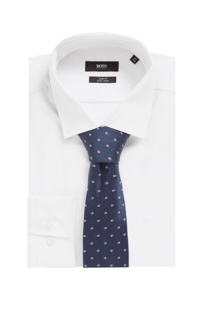 Cravate en jacquard de soie à motif intégral