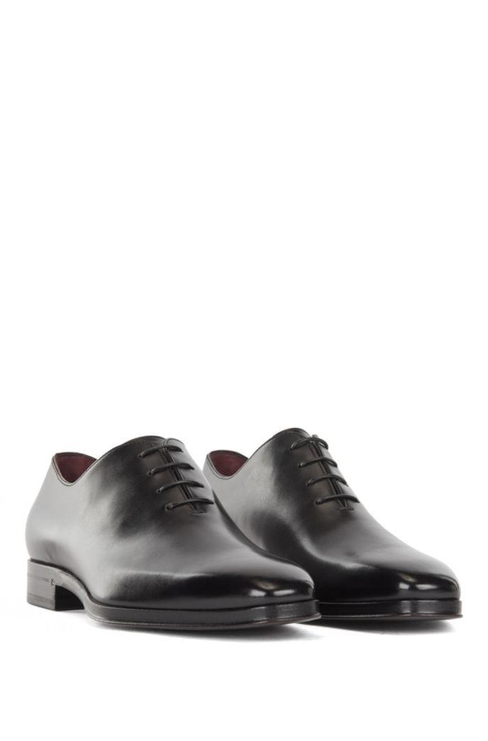 Chaussures Oxford en cuir poli, confectionnées en Italie