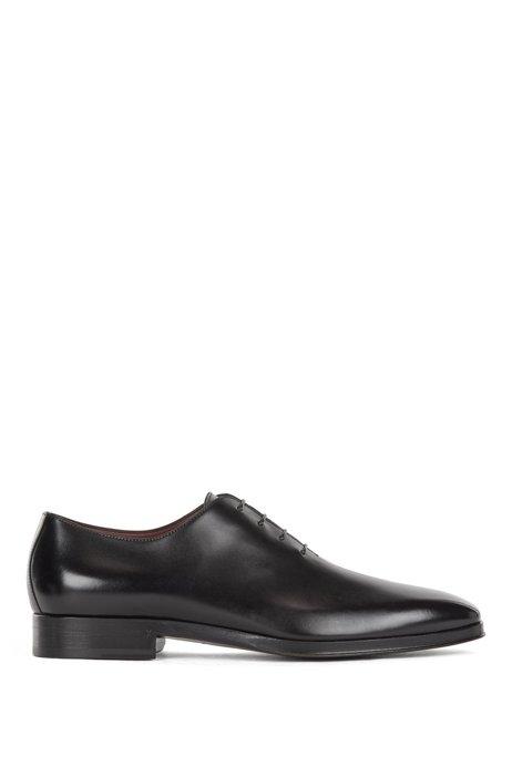 In Italien gefertigte Oxford-Schuhe aus poliertem Leder, Schwarz