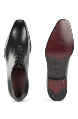 Chaussures Oxford en cuir poli, confectionnées en Italie, Noir