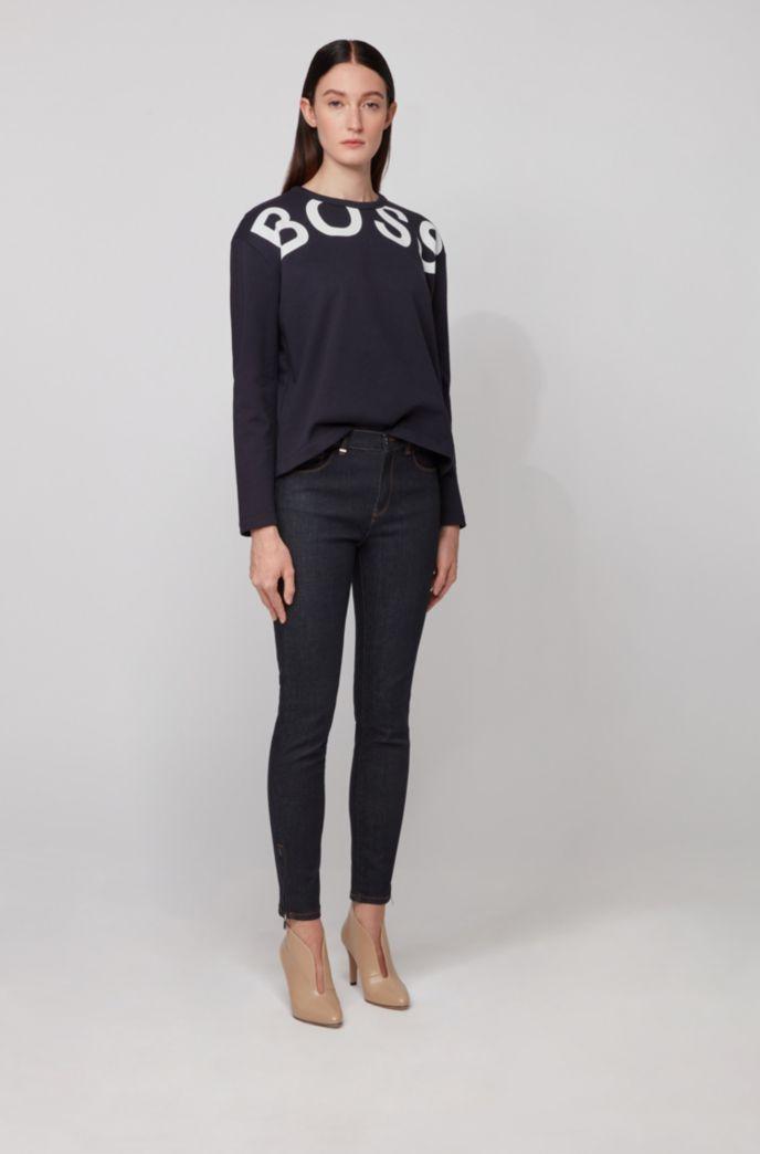 Sweatshirt aus Baumwoll-Terry mit Logo-Print