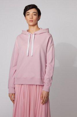 Sudadera con capucha relaxed fit con logo estampado, Pink