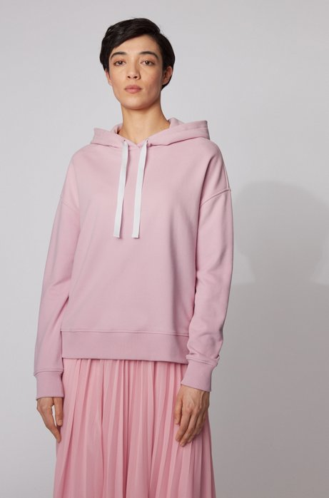 Relaxed-Fit Kapuzenpullover mit Logo-Print, Pink