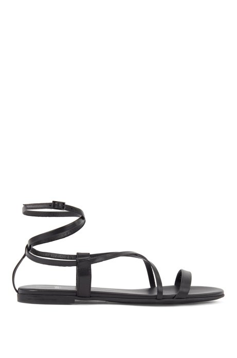Gladiator sandals in nappa leather, Black