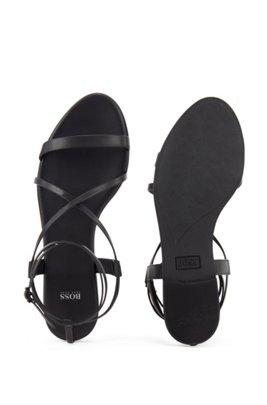 Gladiator sandals in nappa leather, Black