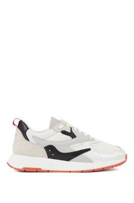 Unisex trainers with hybrid uppers, Light Grey
