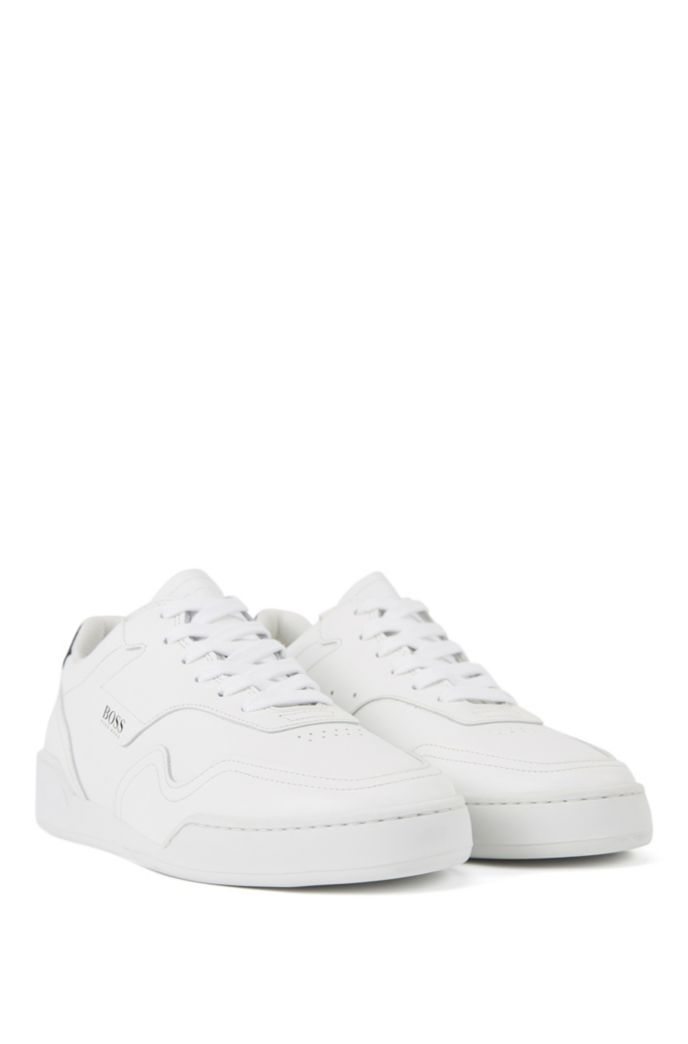 Low-top trainers in Italian calf leather