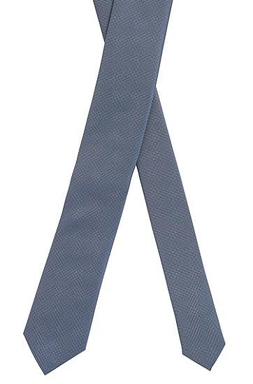 意大利制造微图案领带,  426_中蓝色
