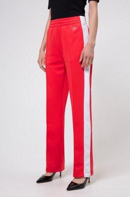 Relaxed-Fit Jogginghose mit Streifen an den Seiten, Rot