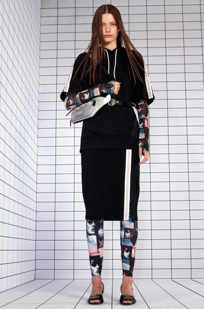 Extra-slim-fit jersey leggings with graphic print