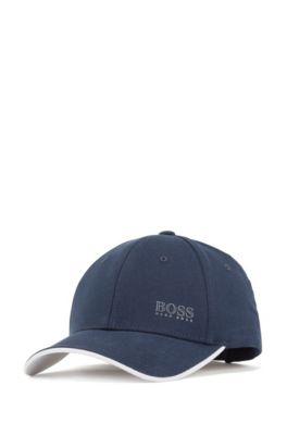Cotton-twill cap with contrast under visor, Dark Blue