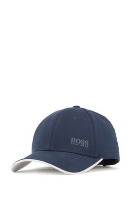Cotton-twill cap with contrast under visor, Dark Blue