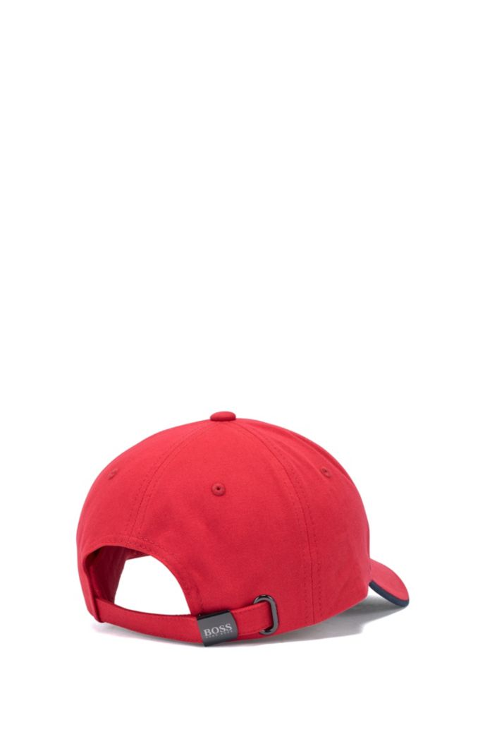 Cotton-twill cap with contrast under visor