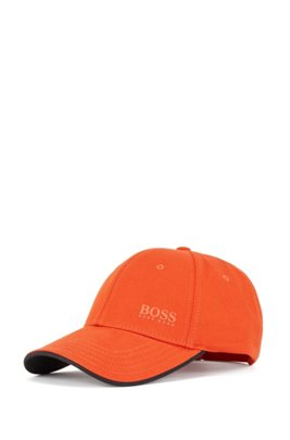 Casquette en twill de coton avec dessous de la visière contrastant, Orange