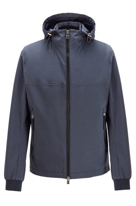 Cazadora 3 en 1 con capucha extraíble y chaleco acolchado, Azul oscuro