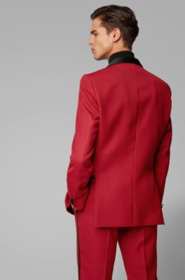 Men S Suits Red Hugo Boss