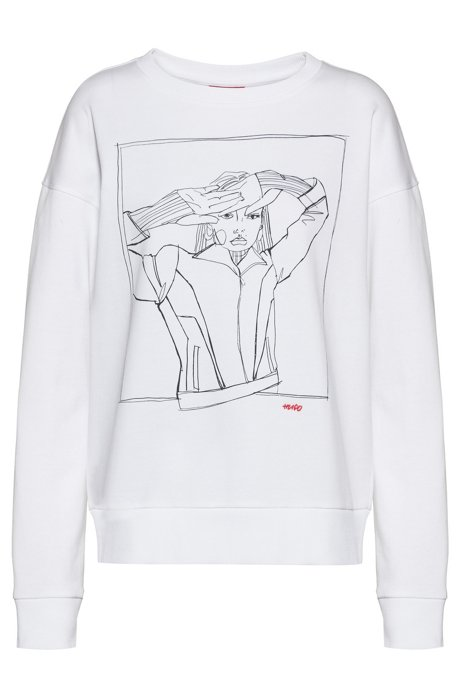 International Women's Day relaxed-fit sweatshirt, White