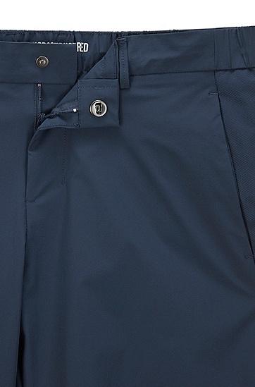 同色系面料拼接修身短裤,  410_海军蓝色