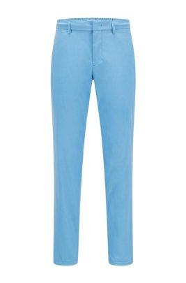 Slim-Fit Hose aus wasserabweisendem Funktionstwill, Blau
