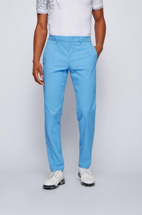 Pantalon Slim Fit en twill technique déperlant, Bleu