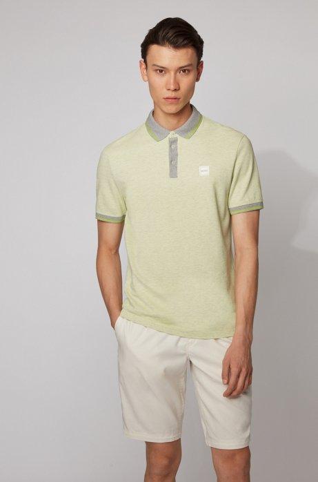 Polo regular fit in piqué di cotone multicolore , Beige chiaro