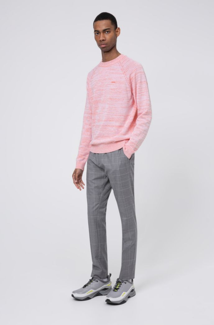 Relaxed-fit sweater in mouliné linen-blend yarn