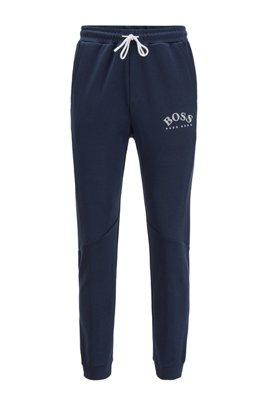 Pantaloni da jogging slim fit con inserto a blocchi di colore, Blu scuro