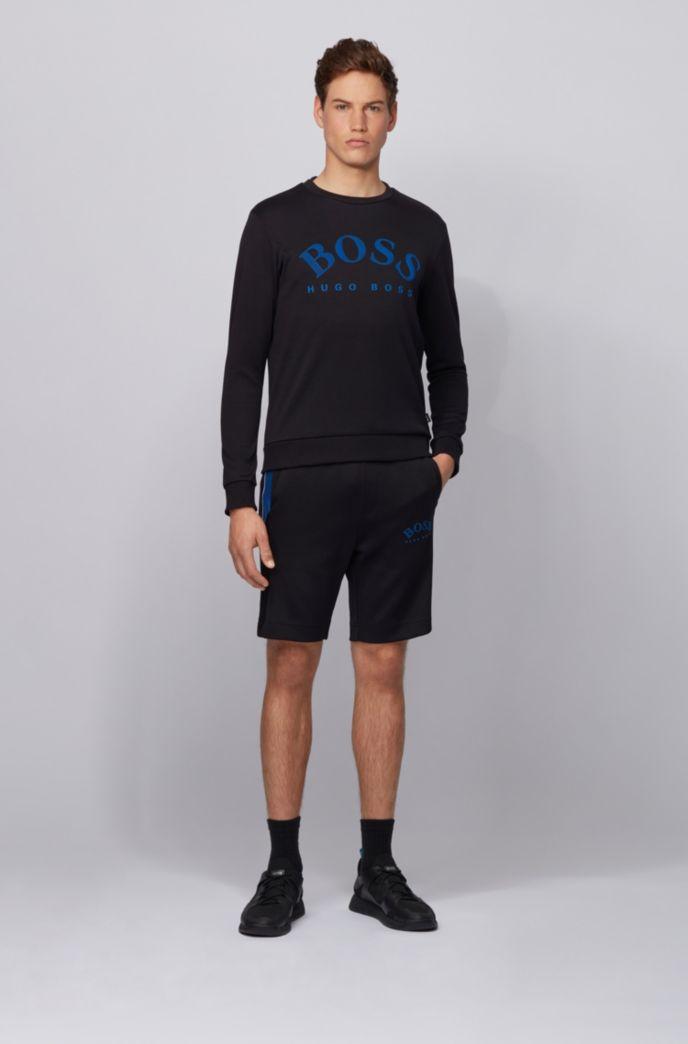Crew-neck sweatshirt with contrast logo print
