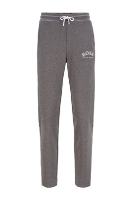 Slim-fit joggingbroek met inzet in color-blocking, Grijs