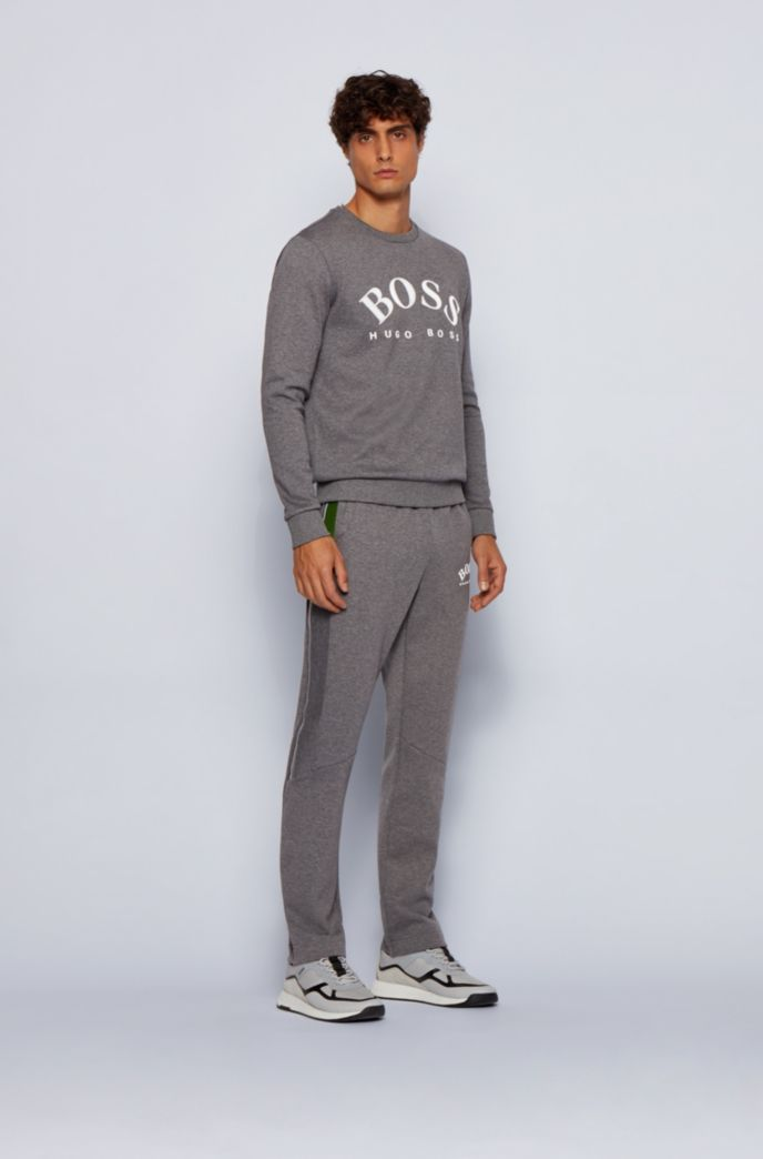 Slim-fit joggingbroek met inzet in color-blocking
