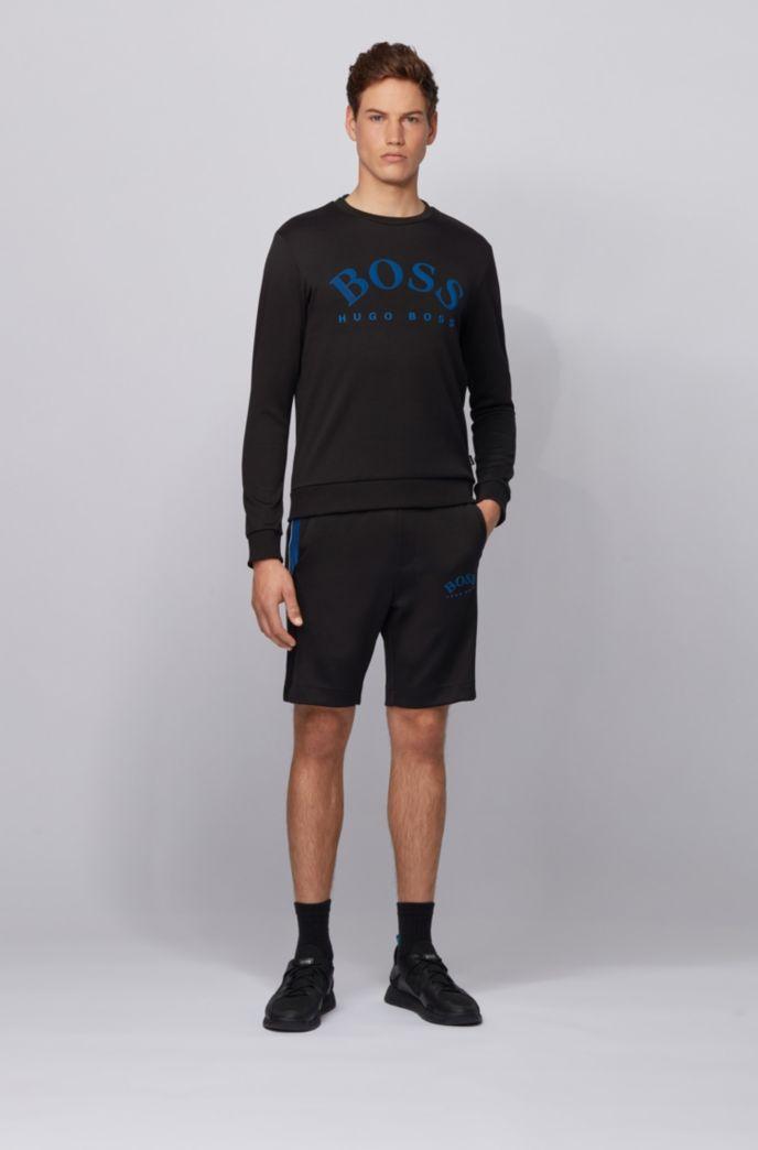 Slim-Fit Shorts aus Jersey mit Colour-Block-Einsätzen