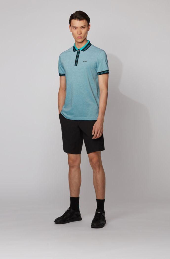 Poloshirt aus Baumwolle mit dreifarbiger Piqué-Struktur