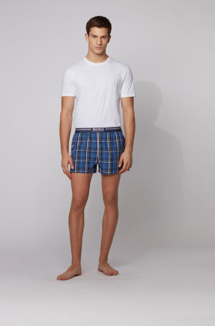 Two-pack of cotton pyjama shorts with logo waistbands