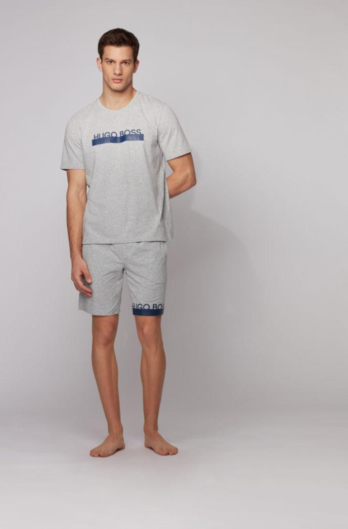 Pyjama-T-shirt van stretchkatoen met thermisch gehecht logo