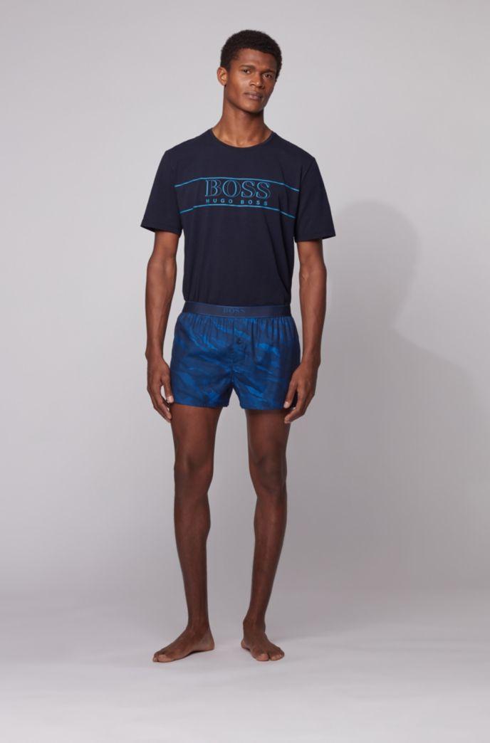 Pantaloncini del pigiama slim fit con motivo a righe effetto tigrato