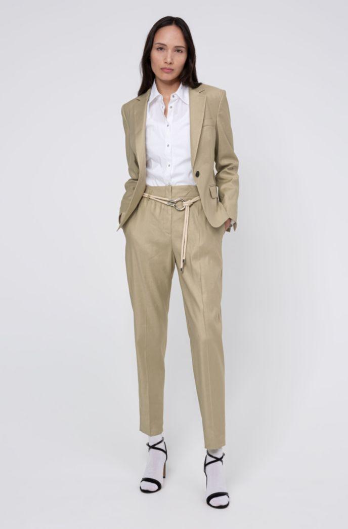 Regular-fit korte blazer met splitboorden