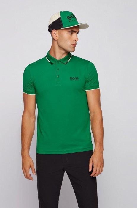 Golf-Poloshirt aus Stretch-Baumwolle mit S.Café®, Grün