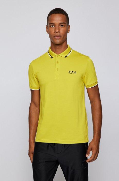 Active-stretch golf polo shirt with S.Café®, Green
